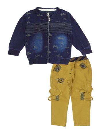Blue & Yellow Clothing Set-B093