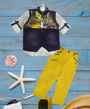 Icefire Yellow & Blue Jacket set-2040