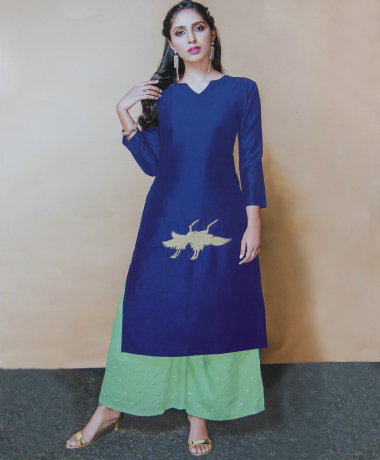 Blue Color Kurti With Palazzo